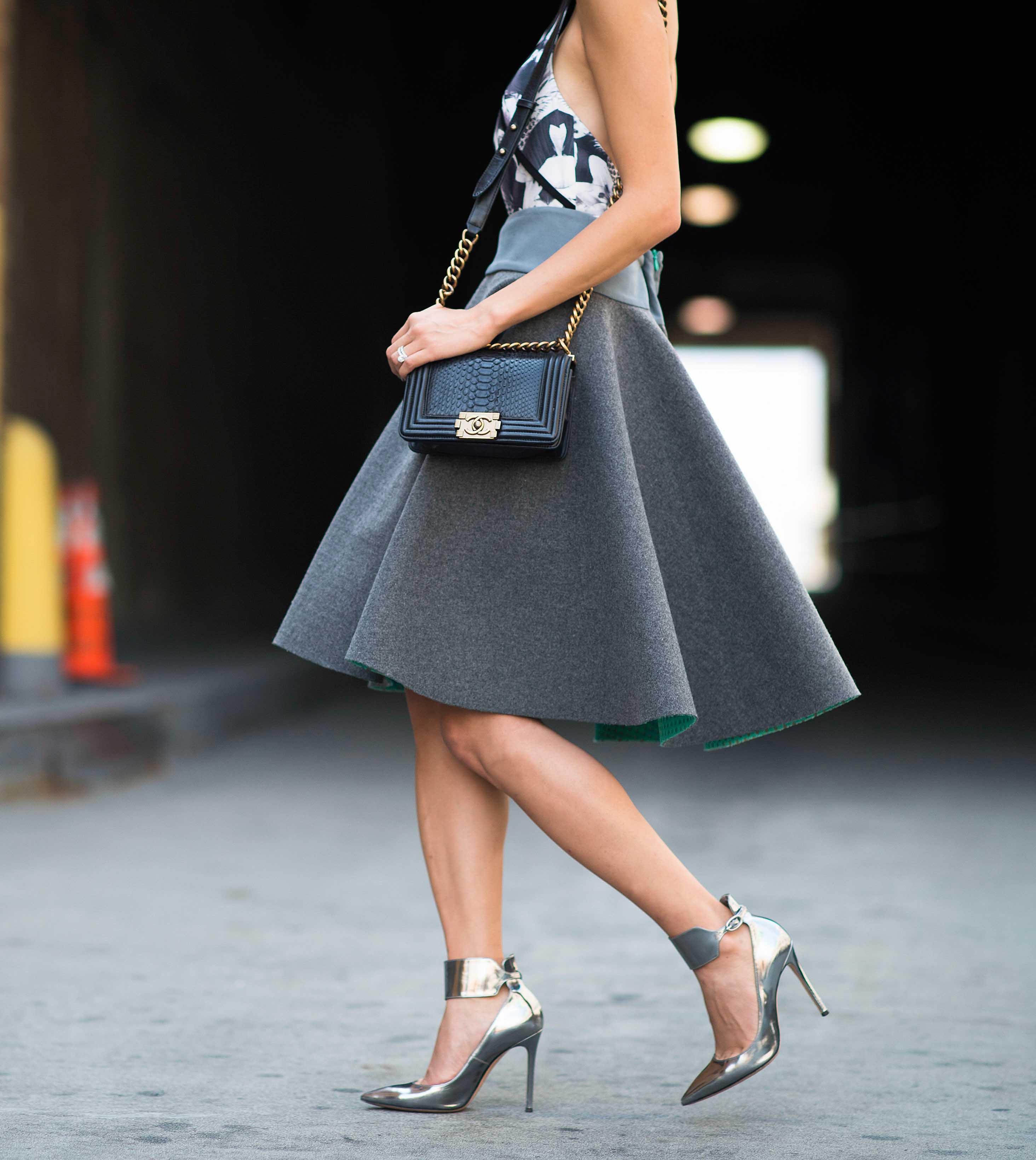 brand street style skirt colour grey